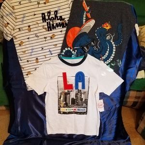 NWT Lot of three boys shirts size 10-12. Very cute